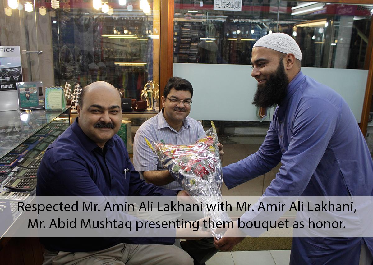 Mr Amin Lakhani and amir lakhani